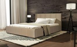 Čalúnená posteľ CAVALLI 140x200 béžová