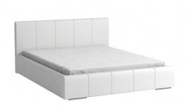Čalúnená posteľ CAVALLI 140x200 biela