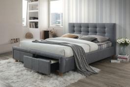 Čalúnená posteľ ASCOT 160x200 šedá