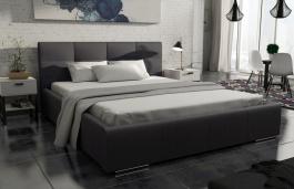 Čalúnená posteľ Mediolan 140x200 čierna