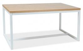 Jedálenský stôl Loras A 180x90 dub masív / biela