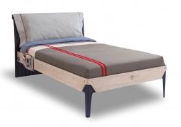 Študentská posteľ 120x200cm s vankúšom Lincoln - dub/tmavo modrá