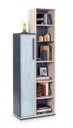 Moderná knižnica Lincoln - dub/dub modrý/tmavo modrá