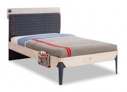 Študentská posteľ 120x200cm s poličkou Lincoln - dub/tmavo modrá