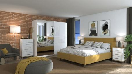 Moderná spálňa Auri I - dub artisan/biela