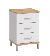 Nočný stolík Auri - dub artisan/biela