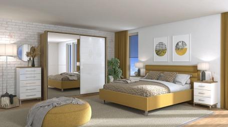 Moderná spálňa Auri II - dub artisan/biela