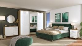 Moderná spálňa Auri III - dub artisan/biela