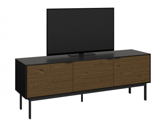 Televízny stolík Dalton - čierny/hnedý