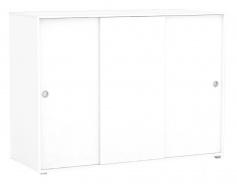3-dverová komoda REA Lary S5 / 110 - biela