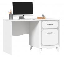 Písací stôl Lily, pravý - biela