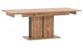 Jedálenský stôl s rozkladaním Klement - dub april/čierny