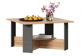 Konferenčný stolík Markus - šedý lesk/dub zlatý