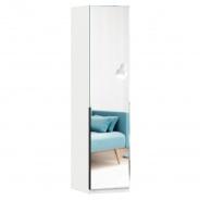 Jednodverová skriňa so zrkadlom Caroline - biela