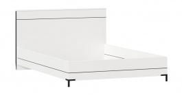 Posteľ bez roštu Caroline 140x200cm - biela/čierna
