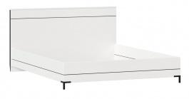 Posteľ bez roštu Caroline 160x200cm - biela/čierna