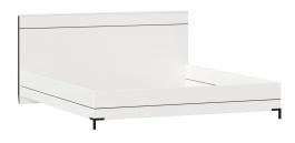 Posteľ bez roštu Caroline 180x200cm - biela/čierna