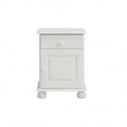 Nočný stolík Richie 1S1D - biely
