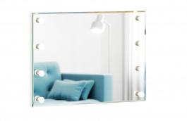 Zrkadlo s osvetlenim Caroline - biely rám