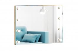 Zrkadlo s osvetlenim Caroline - rám dub zlatý