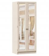Zrkadlová šatníková skriňa Annie 2D (hl.61cm) - dub provence