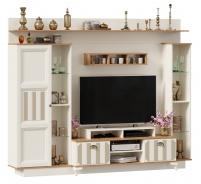 Televízna stena Amfora - alabaster/dub zlatý