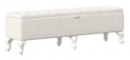 Čalúnený taburet s úložným priestorom Margaret - champagne/alabaster