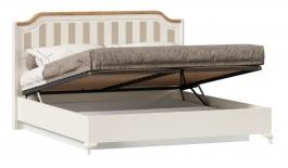 Posteľ s úložným priestorom Amfora 180x200cm - alabaster/dub zlatý