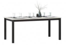 Jedálenský stôl Robin - dub craft biely/čierna