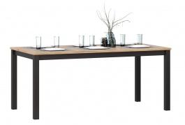 Jedálenský stôl Robin - dub zlatý/čierna
