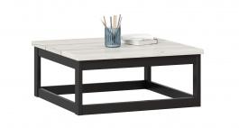 Konferenčný stolík Robin 70cm - dub craft biely/čierna