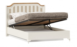 Posteľ s úložným priestorom Amfora 140x200cm - alabaster/dub zlatý