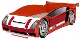 Detská posteľ auto Racer 90x200cm - červená