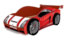 Posteľ Auto Racer 80x160cm se 4 koly - červená