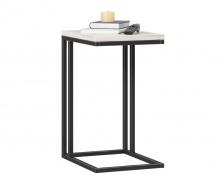 Odkládací stolík Robin - dub craft biely/čierna