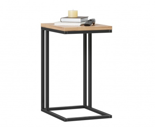 Odkládací stolík Robin - dub zlatý/čierna