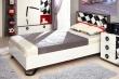 Detská posteľ Racer 120x200cm - biela/červená/rock
