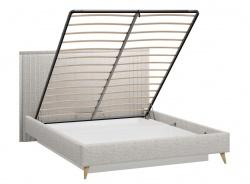 Čalúnená posteľ s úložnym priestorom 160x200cm Melody - šedá