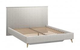 Čalúnená posteľ s roštom 160x200cm Melody - šedá