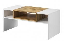 Konferenčný stolík BONUS 69 biela / dub wotan