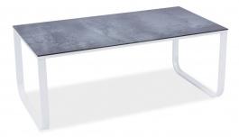 Konferenčný stolík TAXI II sivý kameň / biela