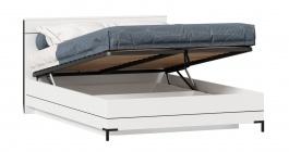 Posteľ s úložným priestorom Caroline 140x200cm - biela/čierna
