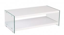*Konferenčný stolík BIBIONE-771 biela / sklo
