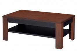 Konferenčný stolík VIEVIEN 41 - dub koňak / čierny mat