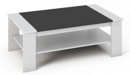 Konferenčný stolík BERN biela / čierna