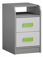 Kontajner k prac. stola GYT 9 antracit / biela / zelená