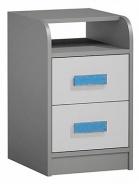Kontajner k prac. stola GYT 9 antracit / biela / modrá