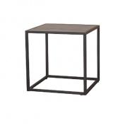 Príručný stolík, dub / čierna, JAKIM TYP 1