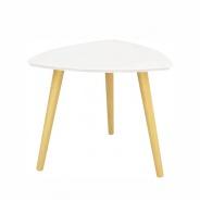 Príručný stolík, biela / prírodné drevo, TAVAS