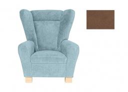 Komfortné relaxačné kreslo typu ušiak Ingrid - hnedá 2742